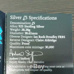 UNS Proof set! , 2012 London Olympics 5pounds 92.5% Silver 4 Color Coins with CoA