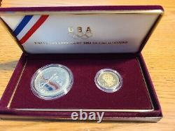 US Mint 1988 Olympic Commemorative Gold & Silver 2-Coin Set