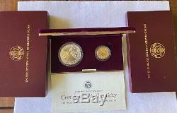 US Olympic coins 1988 Uncirculated Silver Dollar And Gold Five Dollar