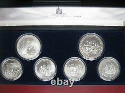 USSR Russia 1980 Moscow Olympics Silver UNC 1977 & 1978 5 & 10 Rubles 5 Coin Set