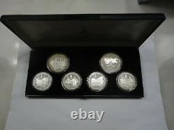 USSR Russia 1980 Olympics 1977 Silver Proof 5 10 Rouble 6 Coin Set Moscow