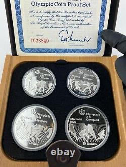 Vintage 1976 Canadian Montreal olympic silver coin set