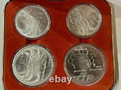 Vintage 1976 Canadian Montreal olympic silver coin set 1 of 5