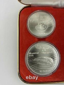 Vintage 1976 Canadian Montreal olympic silver coin set 4 of 5