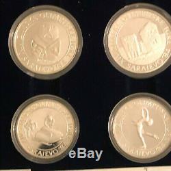 Yugoslavia 15 Silver Proof Coins Set Sarajevo 1984 Olympic Games Mint Box Coa